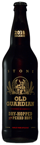 Stone Old Guardian Barley Wine will mature and evolve with age