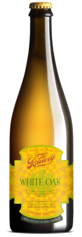 The Bruery White Oak has a crisp effervescence blended with sweet bourbon barrel-aged layers
