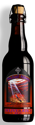 The Lost Abbey Deliverance Ale has flavors of vanilla, raisin and roasted malt