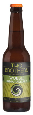 Two Brothers Wobble IPA has tropical pineapple notes