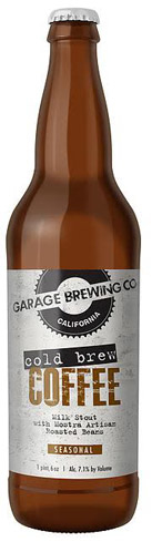 Garage Cold Brew Coffee Milk Stout has a roasty profile with the flavor of rich coffee