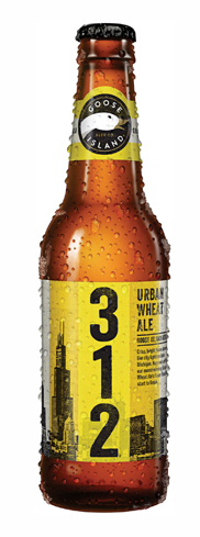 Goose Island 312 Urban Wheat Ale has aromas of lemon and biscuit malt