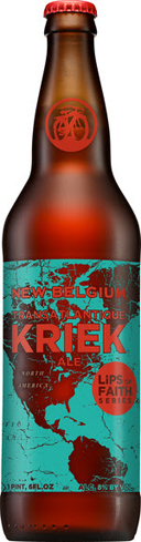 New Belgium Transatlantique Kriek is a collaboration with the 130-year-old Belgian brewery, Oud Beersel