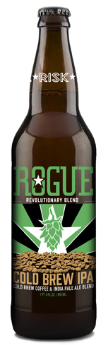 Rogue Cold Brew IPA is a blend of Stumptown Coffee Roasters' cold brew and Rogue hops