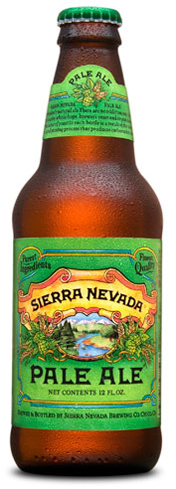The Sierra Nevada Pale Ale is loaded with hops
