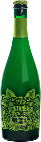 Lindemans SpontanBasil is fermented with fresh basil leaves