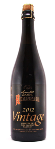 Rodenbach 2012 Vintage Oak Aged Ale boasts aromas of balsamic vinegar and cherry