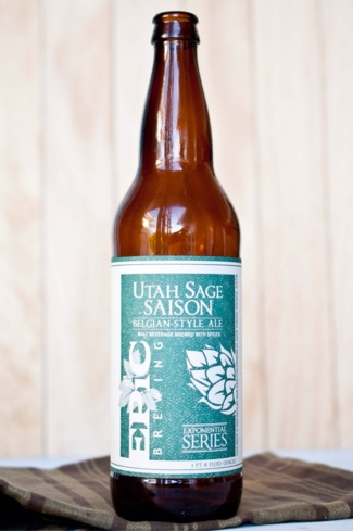The Utah Sage Saison has a lingering aftertaste of sage and rosemary