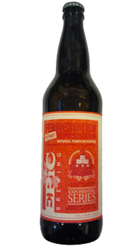 Epic Brewing Imperial Pumpkin Porter is a porter-style beer with flavors of allspice, nutmeg and cinnamon