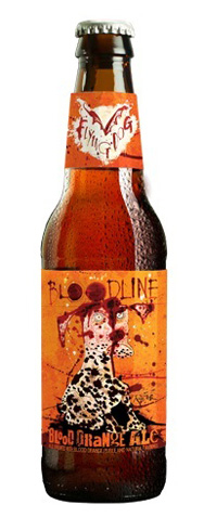 Flying Dog Bloodline Blood Orange Ale has strong notes of orange blossom and grapefruit