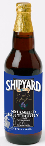 Shipyard Smashed Blueberry is a hybrid between a Porter and a Scotch Ale