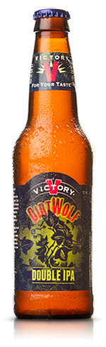Victory DirtWolf Double IPA has grapefruit and pineapple aromas
