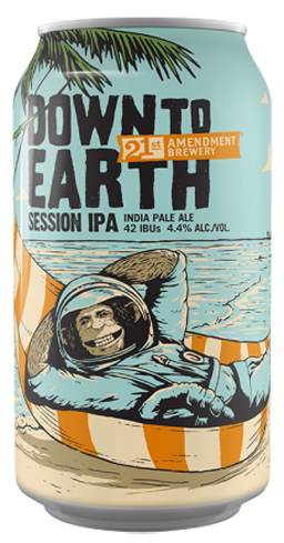 21st Amendment Down to Earth is an easy-drinking session IPA