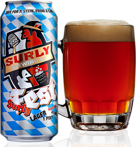 Surly Brewing Company SurlyFest uses three types of rye to deliver a spicy biscuit-like flavor