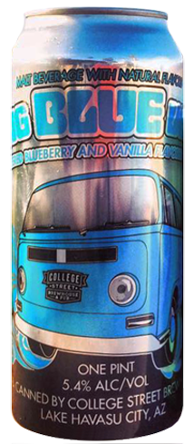 College Street Big Blue Van is named for its unique combination of blueberry and vanilla flavors