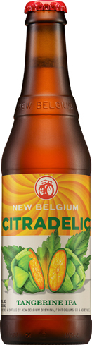 New Belgium Citradelic Tangerine IPA has crisp, tropical fruit flavors and exceptional hops