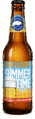 Goose Island Summertime Kölsch is brewed with two-row barley and wheat malt