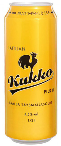 Laitilan Kukko Pils is brewed with pure Nordic water
