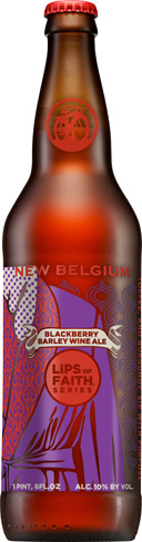 New Belgium Blackberry Barley Wine finishes dry, smooth and warm
