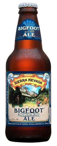 Sierra Nevada Bigfoot Ale has Cascade, Centennial and Chinook hops
