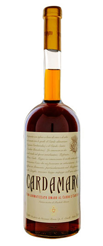 Cardamaro is a wine-based Amaro made with cardoon and other botanicals