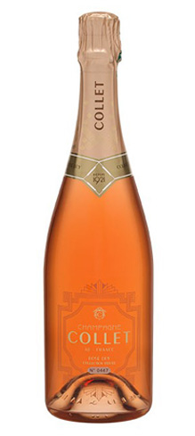 Champagne Collet Rosé Dry has flavors of grapefruit, raspberry and strawberry