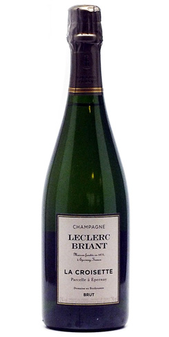Champagne Leclerc Briant La Croisette is composed of biodynamically sourced 100 percent Chardonnay grapes