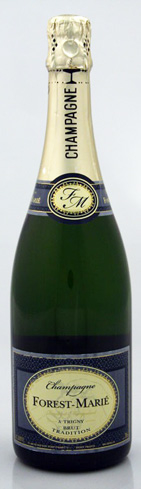 Champagne Forest-Marié Brut Tradition has fresh aromas of apple, pear and melon