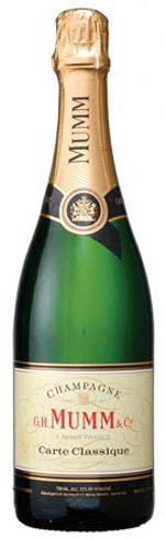 Champagne G.H. Mumm Carte Classique Extra Brut carries on the tradition of reliable French bubbly
