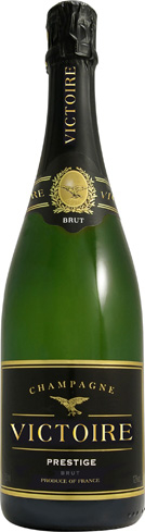 Champagne Victoire Brut Prestige boasts aromas of apple, pear and brioche