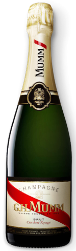 Champagne G.H. Mumm Cordon Rouge has aromas of peach, apricot and pineapple