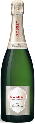 Champagne Gosset Excellence Brut opens with an expressive nose of apricot and peach