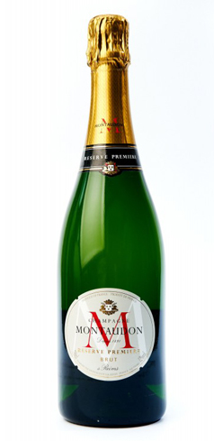 Champagne Montaudon Réserve Première Brut reveals a floral nose with hints of ripe pear and apple