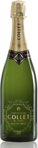 Champagne Collet 2004 Millésime has notes of toast and nuts