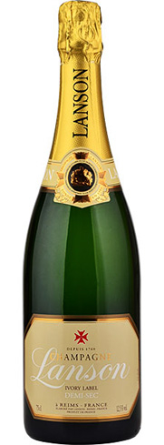 Champagne Lanson Ivory Label features ripe fruit flavors