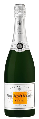 Champagne Veuve Clicquot Demi-Sec displays aromas of candied apple and brioche