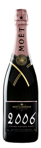 Champagne Moët & Chandon 2006 Grand Vintage Rosé has notes of biscuit, cherry and plum