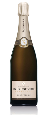 Champagne Louis Roederer NV Brut Premier has rich, round flavors and a long tingly finish