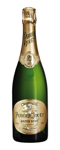 Champagne Perrier-Jouët Grand Brut has flavors like honeysuckle and sweet biscuits