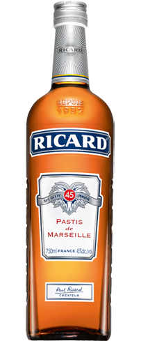 Ricard is a French aperitif that is best served chilled