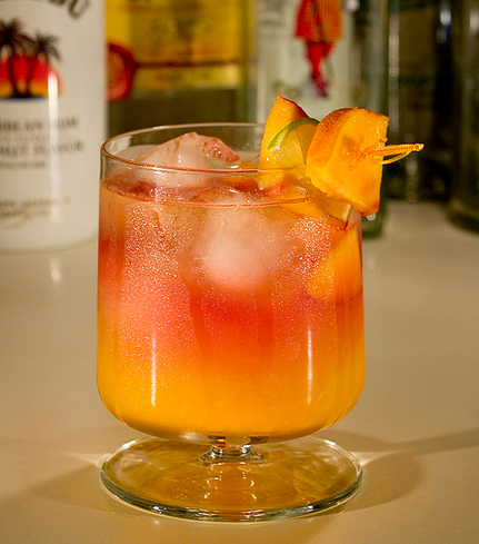 The special effect of the Tequila Sunrise will make you feel like you're on the beach in Mexico