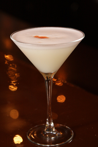 The Pisco Sour balances sweet and tart flavors