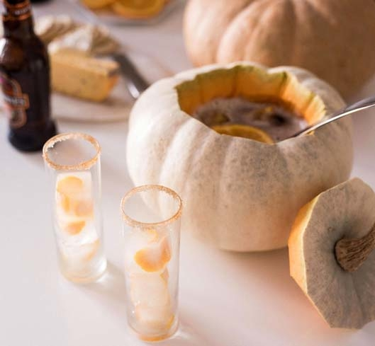 The Spiced Orange Pumpkin Bowl is the perfect festive drink for Halloween