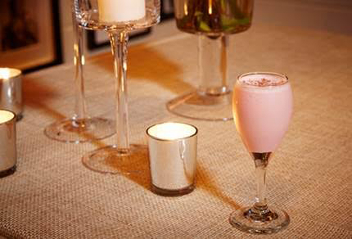 Impress your date with this delightfully pink cocktail