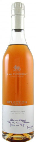 A. de Fussigny Selection Cognac displays aromas of vanilla and spice with floral notes