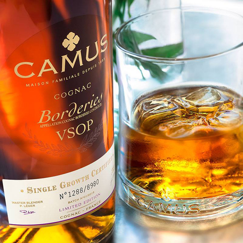 Camus Borderies Cognac VSOP displays aromas of honey, apple and cinnamon with notes of peach