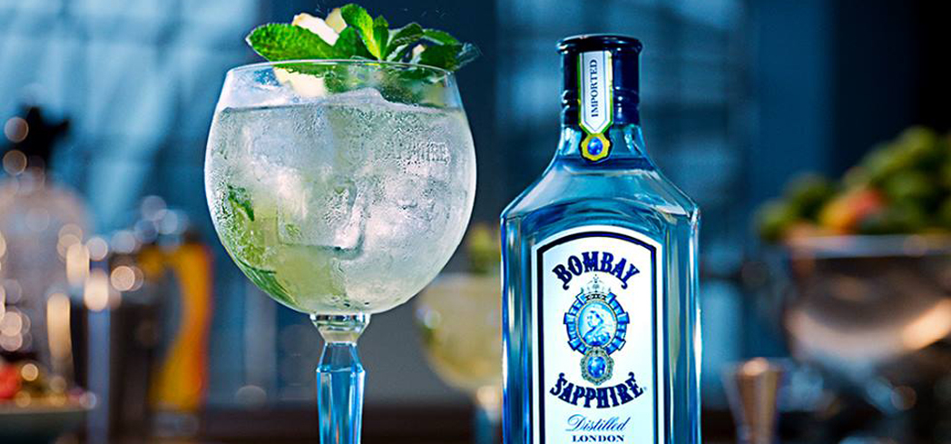 Bombay Sapphire Gin is delicate and floral