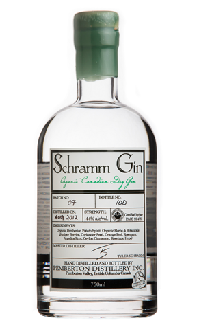 Schramm Organic Gin uses artisanal ingredients including juniper and coriander