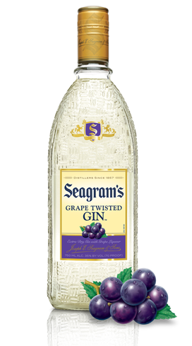 Seagram's Grape Twisted Gin uses natural grape flavors