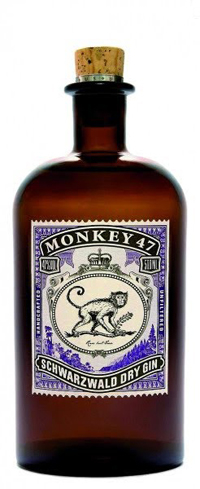 Monkey 47 Schwarzwald Dry Gin is produced in Germany's Black Forest